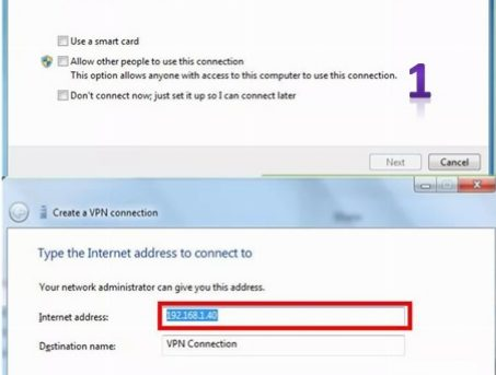 connect vpn 1